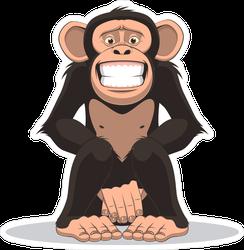 Funny Little Smiling Monkey Sticker