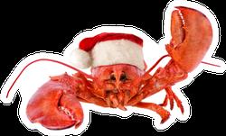 Funny Lobster In Santa Hat Sticker