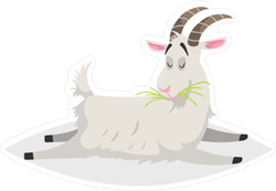 Funny Lying Goat Sticker