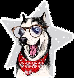 Funny Siberian Husky Sticker