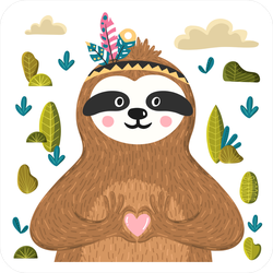 Funny Sloth In The Forest Sticker