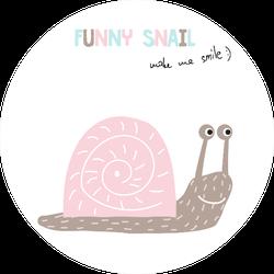Funny Snail Sticker