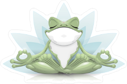 Funny Yoga Frog Sticker