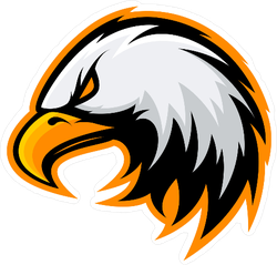 Furious Eagle Mascot Sticker