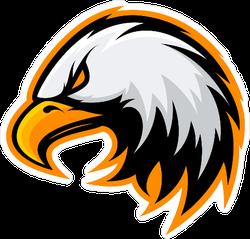 Furious Eagle Mascot Sticker
