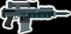 Futuristic SMG with Scope Gun Sticker