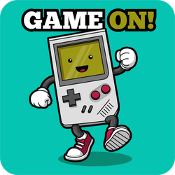 Game On Gameboy Sticker
