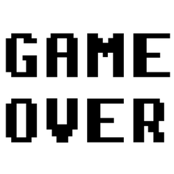 Game Over Pixel Style Sticker