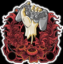 Gamer Hand Tattoo Style Sticker