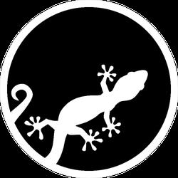 Gecko Cutout Of A Circle Sticker