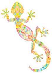 Gecko With Ethnic Pattern Sticker