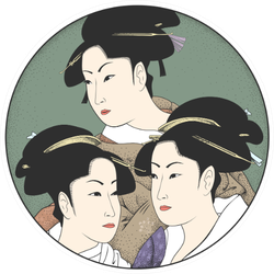 Geisha Japan Women Sticker