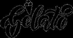 Gelato Lettering Sticker