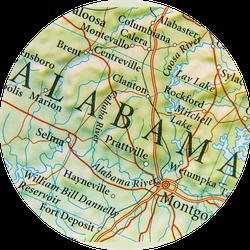 Geographic Map Of Alabama Sticker