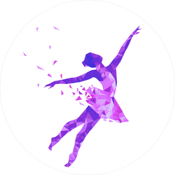 Geometric Ballerina With Triangle Particles Sticker