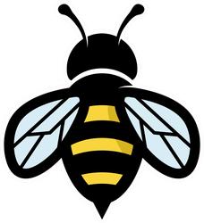 Geometric Bee Logo Sticker