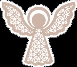 Geometric Christmas Angel Sticker