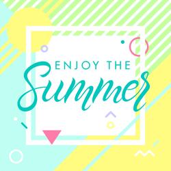 Geometric Enjoy The Summer Sticker