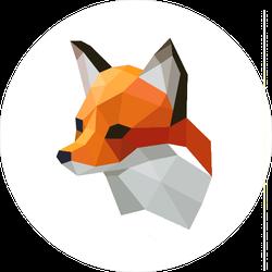 Geometric Fox Head Sticker