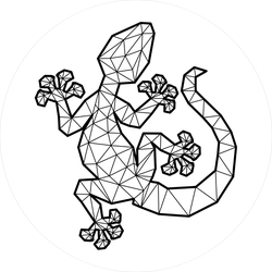 Geometric Gecko Line Art Sticker