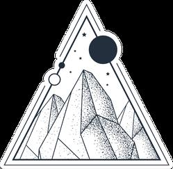 Geometric Hand Drawn Mountains Sticker