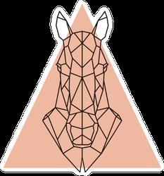 Geometric Horse Head Sticker