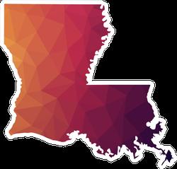 Geometric Louisiana Sticker