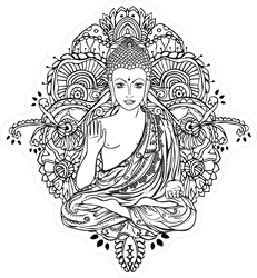 Geometric Ornament Buddha Sticker