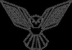 Geometric Owl Logo Sticker