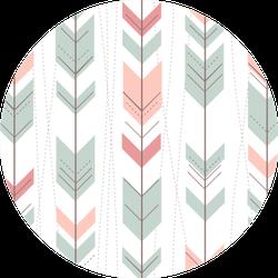 Geometric Pattern In Retro Style Arrow Sticker