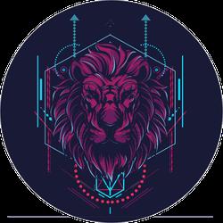 Geometric Sacred Lion Sticker