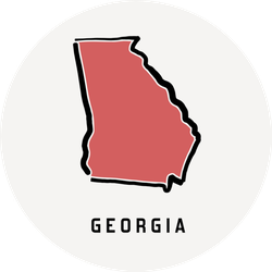 Georgia Map Outline Simplified Sticker