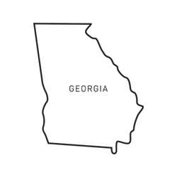 Georgia Map Outline Sticker