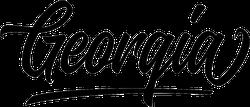 Georgia Script Sticker