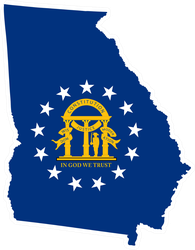 Georgia State And Coat Of Arms Sticker
