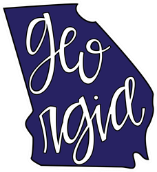 Georgia State Outline And Text Sticker