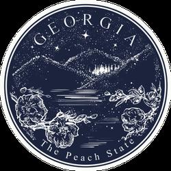 Georgia The Peach State Tattoo Art Sticker