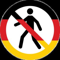German Human Entry Forbidden Symbol Sticker
