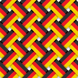 German National Colors Interlaced Stripes Sticker