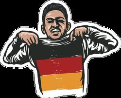 German World Cup Football Soccer Player Sticker