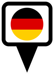 Germany Flag And Navigation Icon Sticker