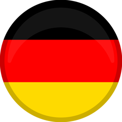 Germany Flag Button Circle Sticker