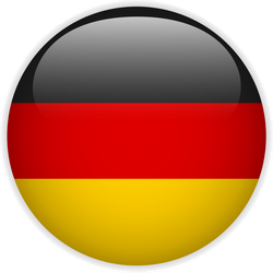 Germany Flag Glossy Button Sticker