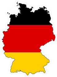 Germany Flag In Form Of Map Sticker