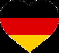 Germany Flag In Heart Sticker