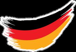 Germany Flag Paint Swish Sticker