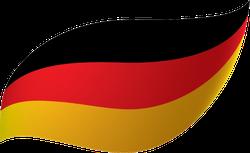 Germany Flag Swoosh Sticker