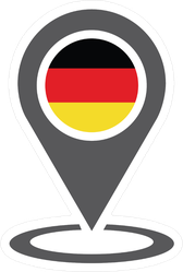 Germany Location Map Pin Icon Sticker