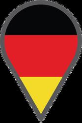 Germany Location Map Pin Sticker