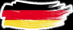 Germany National Flag Brush Stroke Sticker